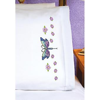 Stamped Cross Stitch Pillowcase Pair 20