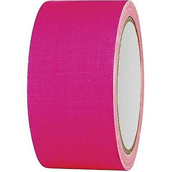 Cloth tape TOOLCRAFT 80FL5025PC Neon pink (L x W) 25 m x 50 mm Hot glue (HMA) Content: 1 Rolls