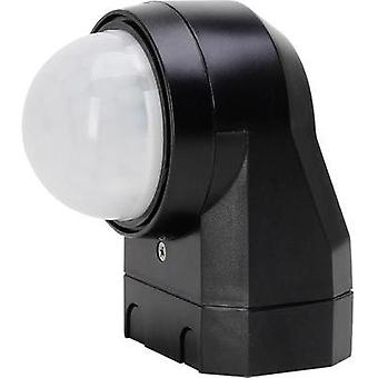 Wall, Surface-mount PIR motion detector Kopp 824605012 240 ° Relay Black IP54