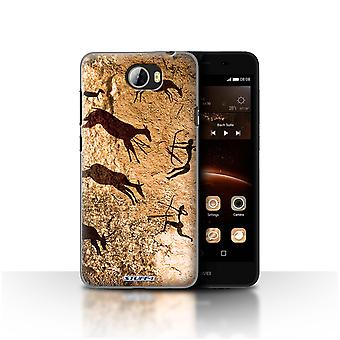 STUFF4 Case/Cover for Huawei Y5II/Y5 2/Hunters/Brown/Cave Painting