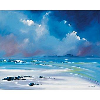 Daniel Campbell print - White Sands, Tiree