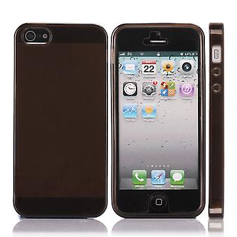 Transparent TPU rubber black cover for iPhone 5