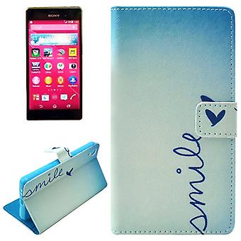 Mobile case bag for mobile phone Sony Xperia Z4 lettering smile