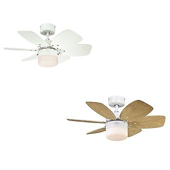Westinghouse ceiling fan Flora Royal white with lighting