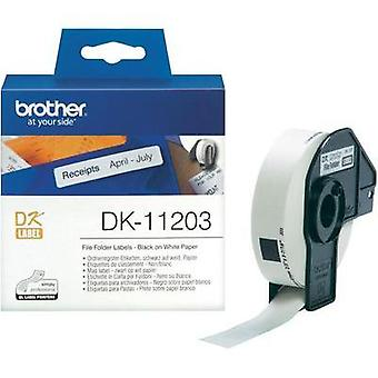 Brother Labels (roll) 17 x 87 mm Paper White 300 pc(s) Permanent DK11203 Index labels