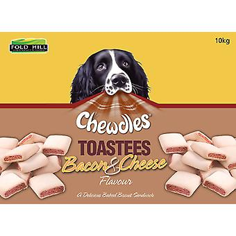 Chewdles Toastees Bacon & ost 10kg