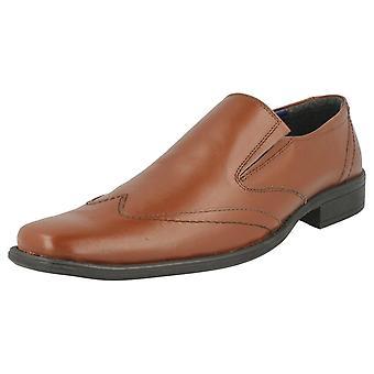 Herre Bruno Donnari Leather stilfulde Slip på sko NN 901