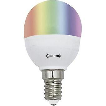 LED E14 gota 5 W = 25 W RGBW (Ø x L) 45 mm x 86 mm de EEC: A LightMe incl. cambiando de color, regulable, mando a distancia 1