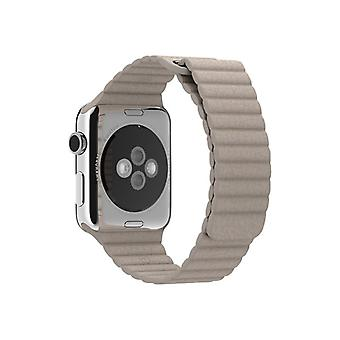 Apple 42 mm Leather Loop-medium-klockrem-stone leather for Watch (42 mm)