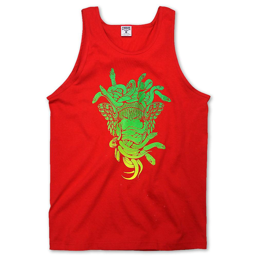 Truffatori & castelli Medusa gradiente Tank Top True Red