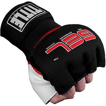 Titel Boxen Gel Angriff Training Handschuh Wraps - schwarz