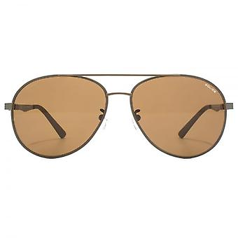Police Court 1 Aviator Sunglasses In Matte Dark Brown Polarised