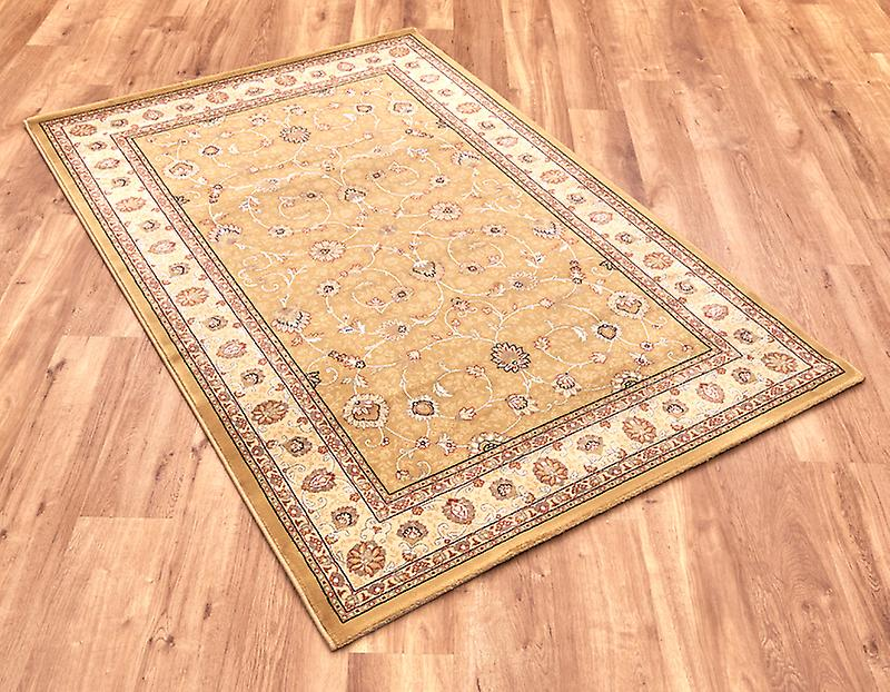 Noble Art 6529-790 Gold centre with ivory border and viscose accents  Rectangle Rugs Traditional Rugs