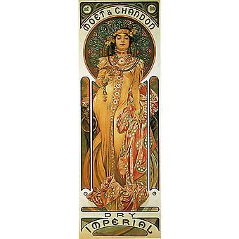 Alphonse Mucha - Chandon Cremant Imperial Poster Print Giclee