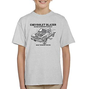Haynes Owners Workshop Manual Chevrolet Blazer zwart Kid's T-Shirt