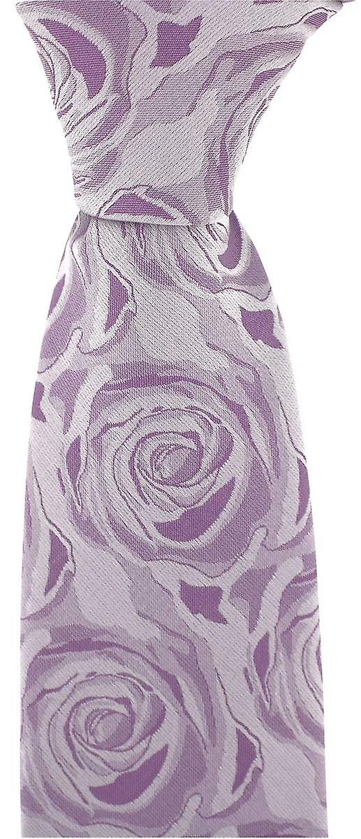 David Van Hagen Wedding Rose Silk Tie - Lilac