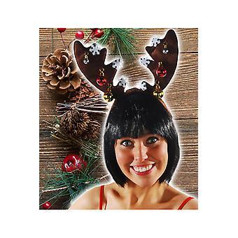 Lusso di copricapo di capelli accessori renna con le sfere di Natale