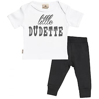Spoilt Rotten Little Dudette Baby T-Shirt & Baby Jersey Trousers Outfit Set