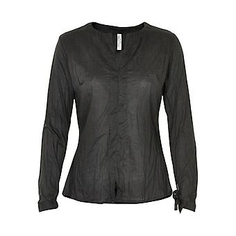 Henriette Steffensen black ladies business blouse crash optics