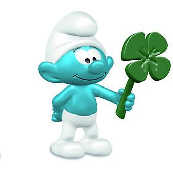 Schleich Smurf with clover leaf