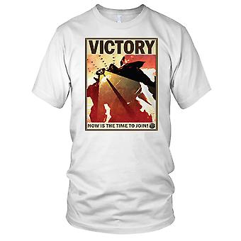 Pacific Rim Victory retro Poster Ladies T Shirt
