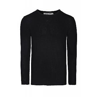 JUNK YARD Kurt knit sweater mens knitted sweater round neck black