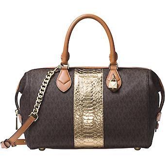 Michael Kors Grayson Large Convertible Satchel - Brown - 30F7GGYS3B-200