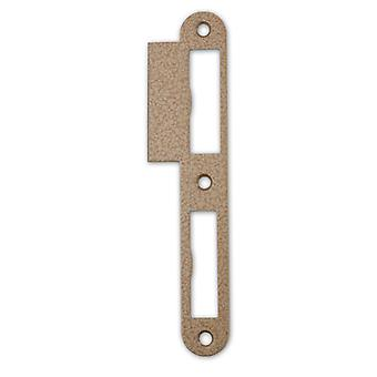 Premium Quality M4TEC ZB7 Gloss Stainless Steel Strike Locking Door Plate - Sturdy, Durable & Easy To Install – Elegant Design – DIN L – Suitable For Single & Double-Turn Interior Flush Door Locks