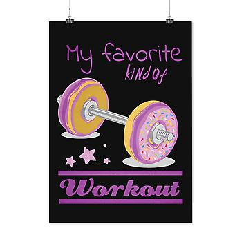 Matte of glanzende Poster met Donut training Lift Sport | Wellcoda | * d2356