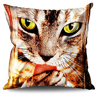 Eyes Animal Fantasy Cat Linen Cushion Eyes Animal Fantasy Cat | Wellcoda