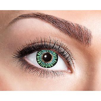 Natural contact lens delicate floral pattern