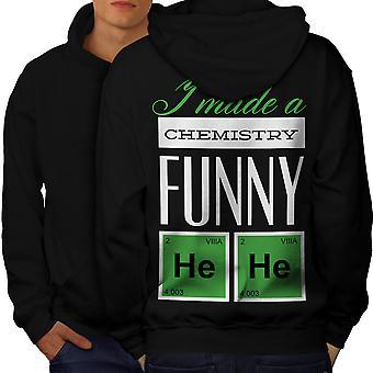 Funny Chemistry Geek Men BlackHoodie Back | Wellcoda