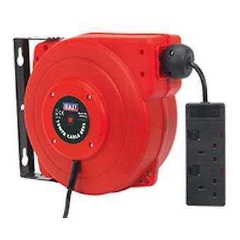 Sealey Crm10 Cable Reel System versenkbare 10Mtr 2 X 230V Steckdose