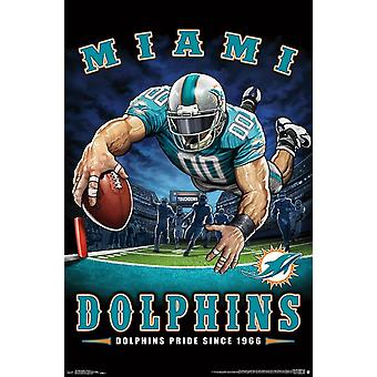 Miami Dolphins - End Zone Poster Print