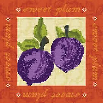 Sweet Plums Needlepoint Canvas