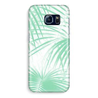 Samsung S6 Edge Full Print mål - Palm blad