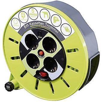 Cable reel 8 m Green PG plug Goobay 51266