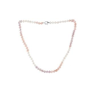 Child in multicolored cultured pearls and Silver 925 necklace