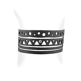 Etniska armband i silikon svart tatuering effekt