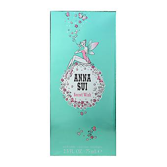 Anna Sui Secret Wish Eau De Toilette Spray 2.5Oz/75ml New In Box