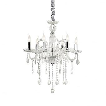Ideal Lux Giudecca Shabby Chic Clear 6 Light Hanging Ceiling Pendant