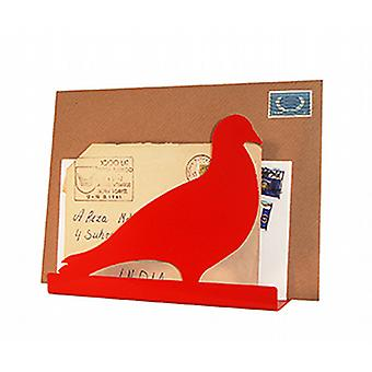 Vermillion Pigeon Post brief Rack door Susan Bradley