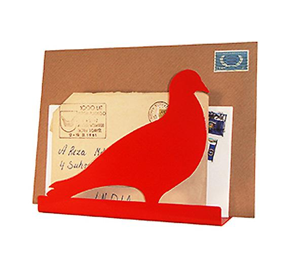 Vermillion Pigeon Post Letter Rack by Susan Bradley