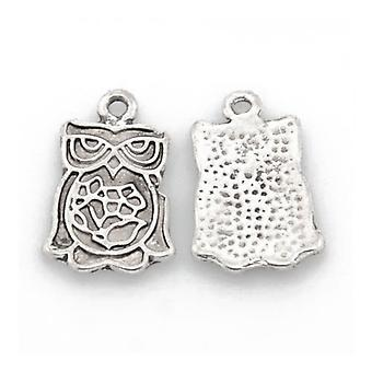 Packet 20 x Antique Silver Tibetan 20mm Owl Charm/Pendant ZX13750