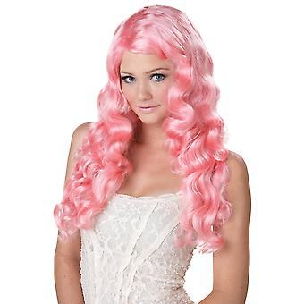 Sweet Tart Pink Mermaid Anime Doll Fairy Clown Story Book Week Women Costume Wig