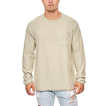 Lee cotton roll sweater hem knit beige