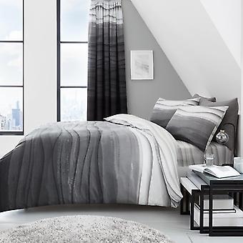 موجه Ombre حاف لحاف تغطية بولي الأقمشة القطنية المطبوعة موجات مجموعة أغطية الفراش