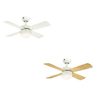 Westinghouse ceiling fan Colosseum white including dimmable LED light and remote control
