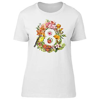 Number 8 With Birds & Flowers Tee Women's -Image by Shutterstock