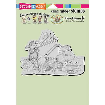 Stampendous House Mouse Cling Stamp-Keeping Cool